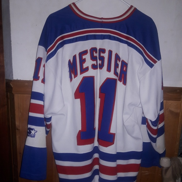 huge selection of 23ca5 21b3f Starter New York Rangers Mark Messier jersey; XL